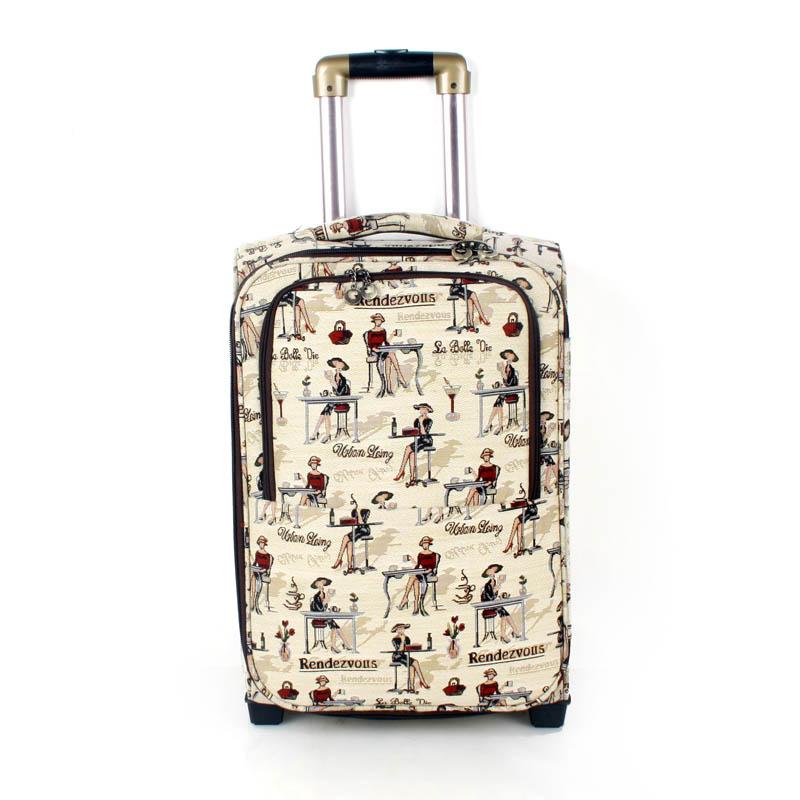 Чемоданы из гобелена чемоданы в ручную кладь дешево